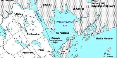 Map of Passamaquoddy Bay Region